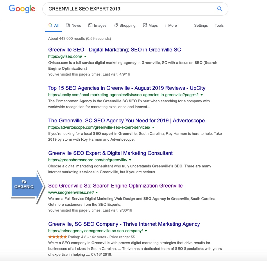 GREENVILLE SC SEO #1 COMPANY| Seo Greenville SC